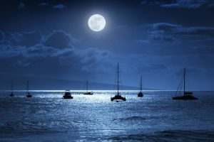 Lahaina Harbor by Moonlight