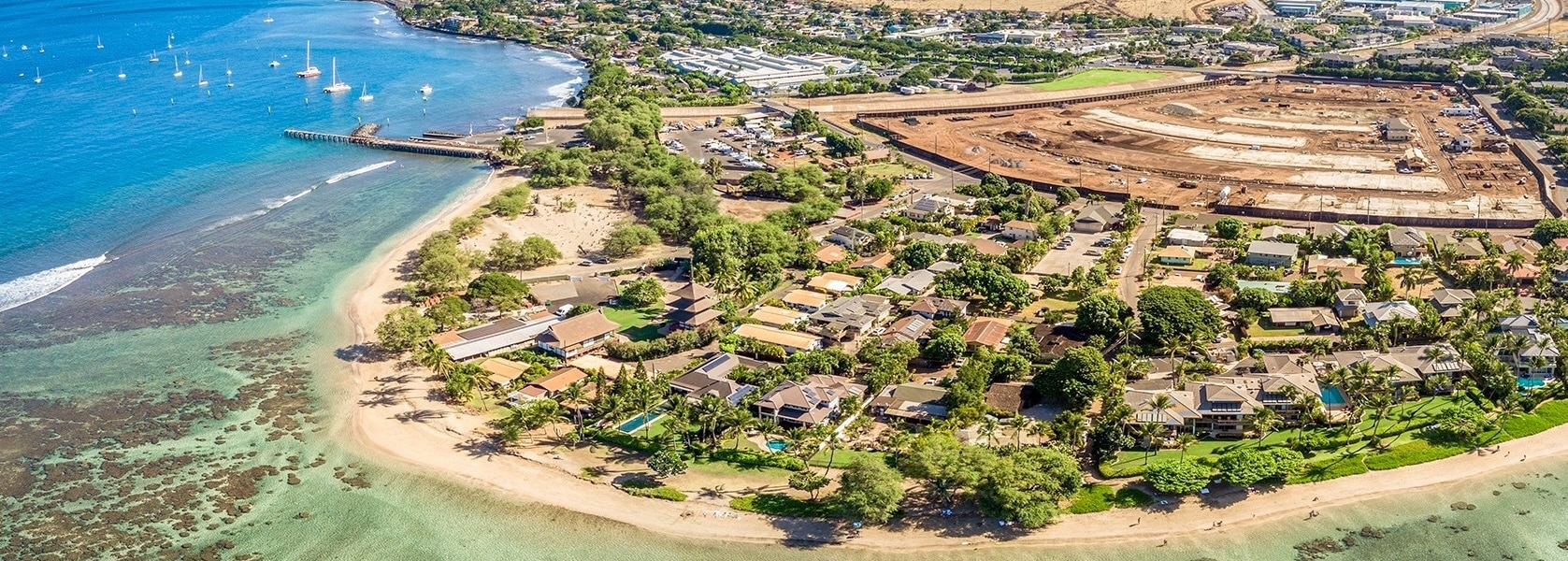 Lahaina Real Estate - Baby Beach Aerial