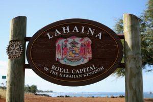 Lahaina Royal Capital Sign