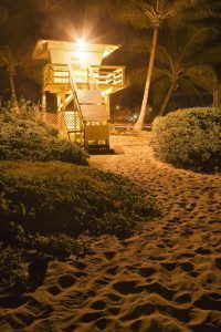 Kihei Lifeguard Shack at Night