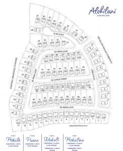 Alohilani Site Map