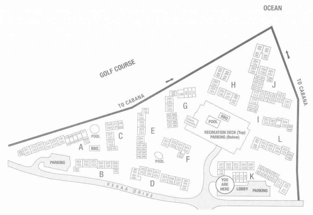 Maui Eldorado Site Map