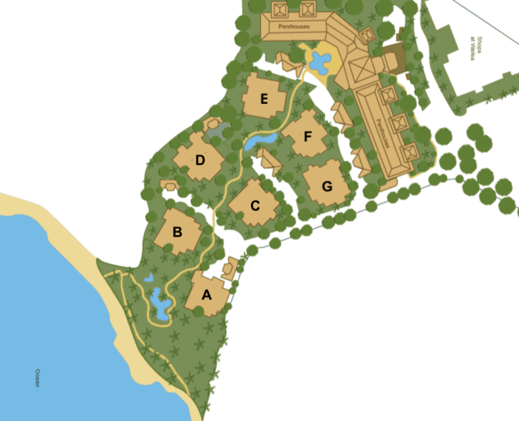 Wailea Beach Villas Site Map